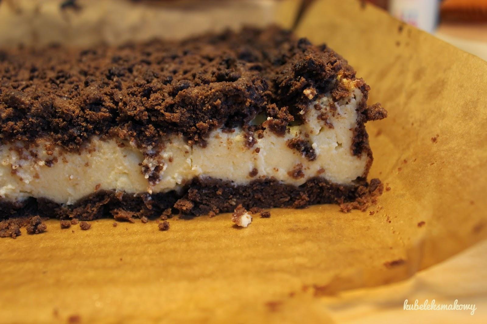sernik w kakaowym kruchym cieście (królewski) - przepis