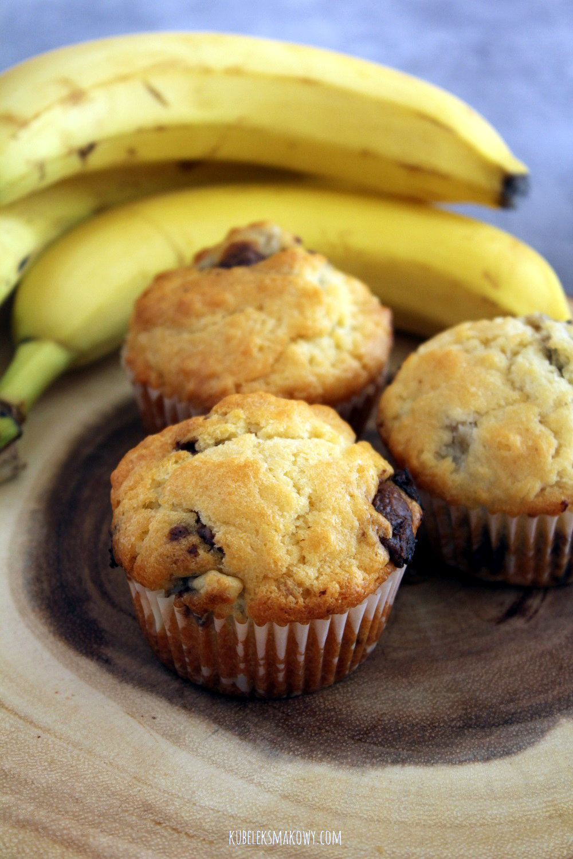 muffiny (babeczki) z bananami i czekoladą