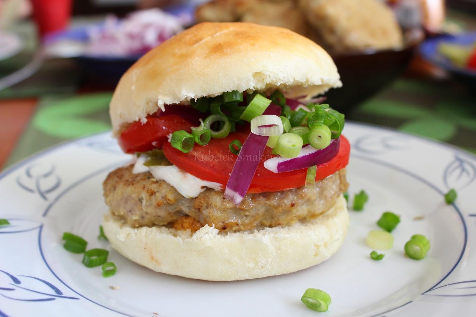 domowe hamburgery wieprzowe - przepis