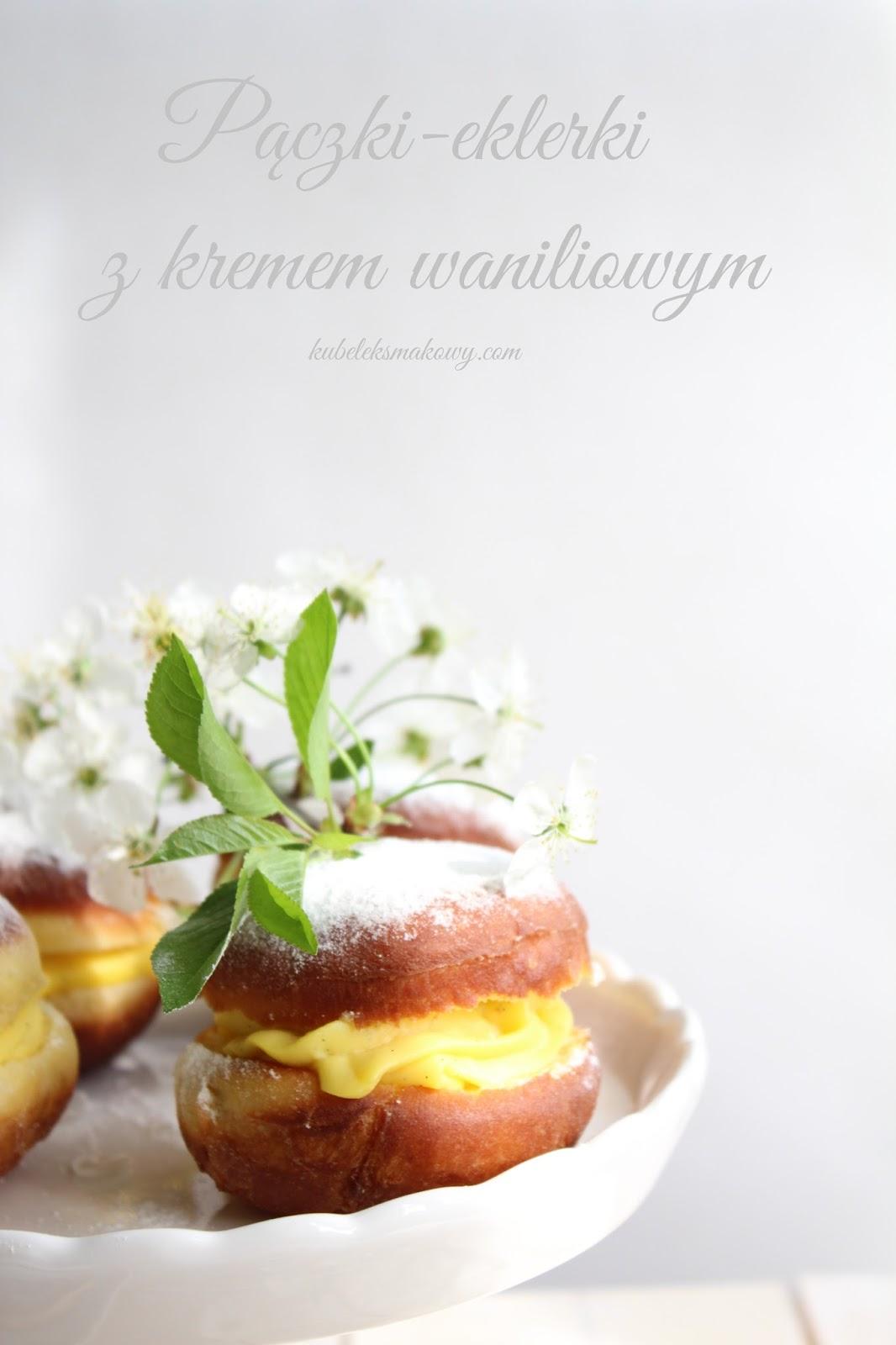 pączki eklerki z kremem waniliowym
