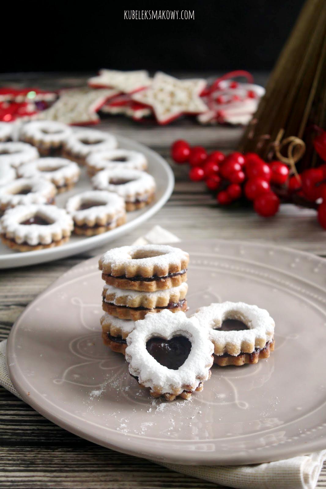 linzer cookies - ciasteczka z okienkiem