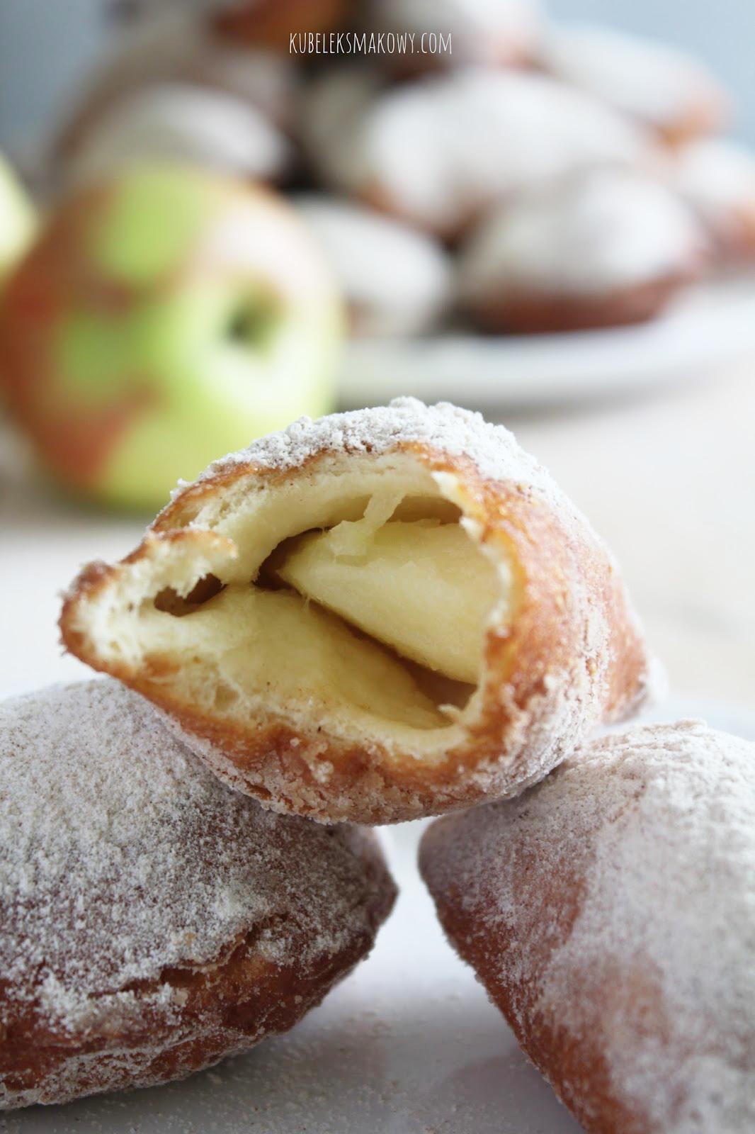 drożdżowe pierożki wileńskie z jabłkami - przepis
