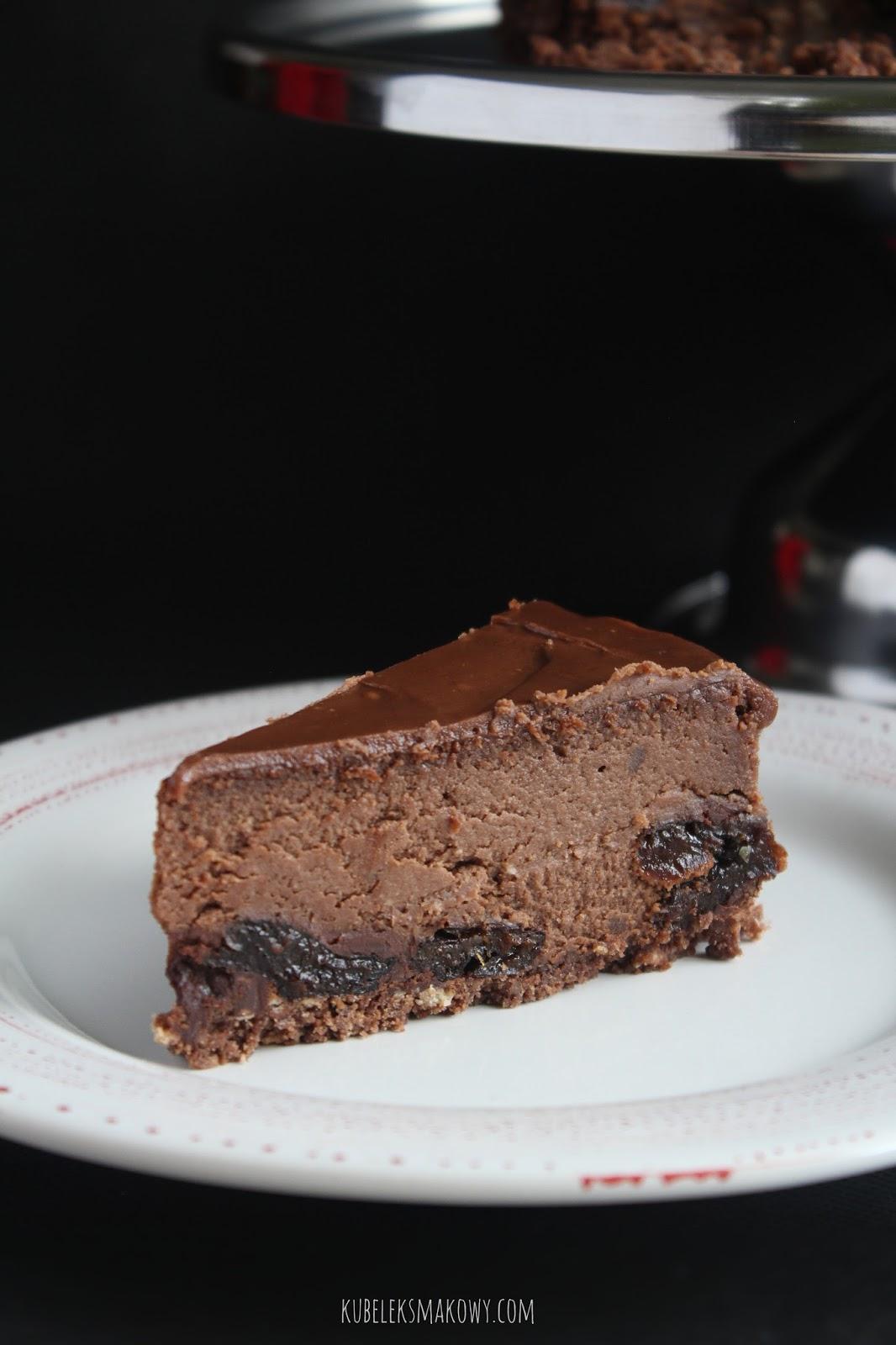 Sernik śliwka w czekoladzie
