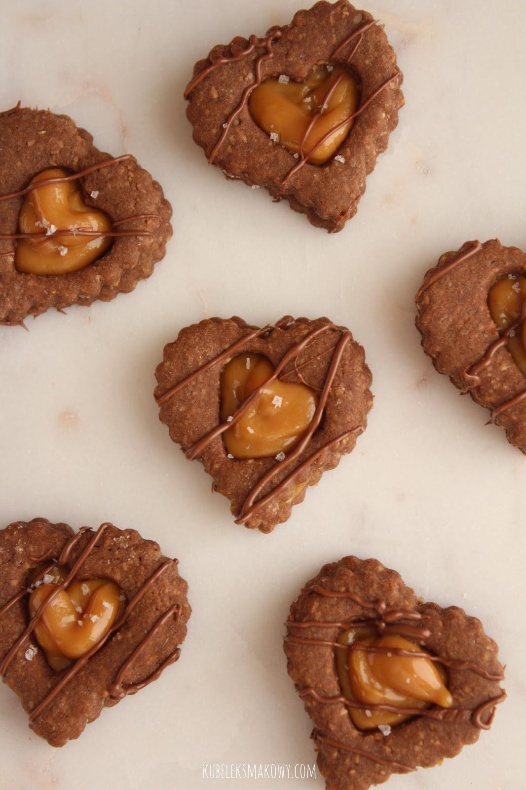 kakaowe ciasteczka z okienkiem - przepis