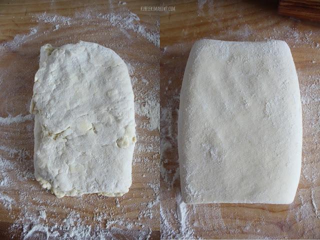 domowe ciasto francuskie - składanie