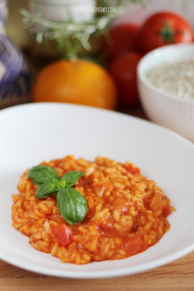 risotto z pomidorami - przepis