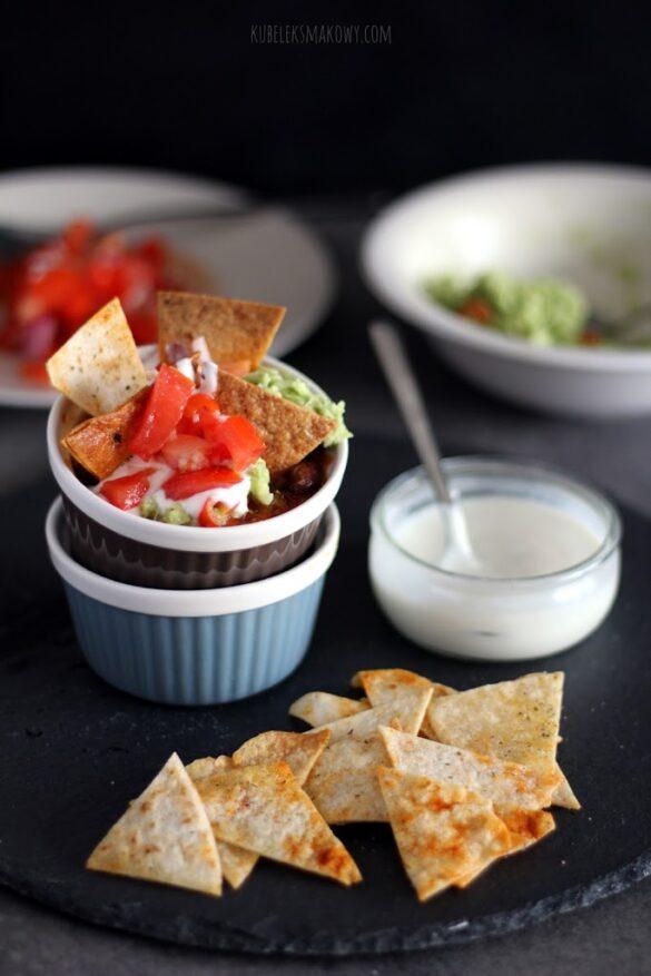domowe nachos z chilli con carne - przepis