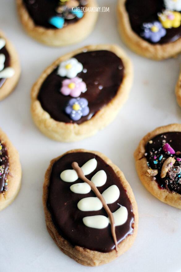 mini mazurki z wiśniami i czekoladą - przepis