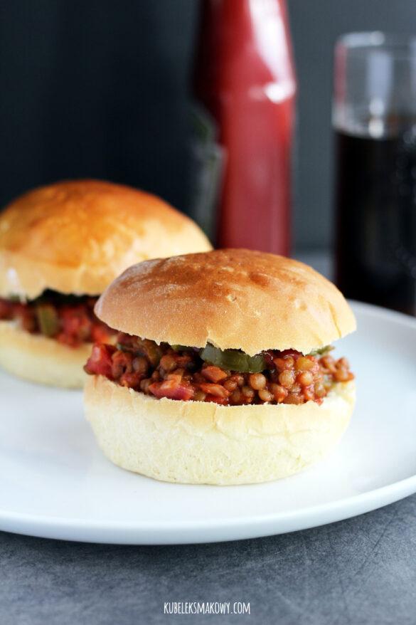 wege burgery z soczewicą sloppy joe - przepis